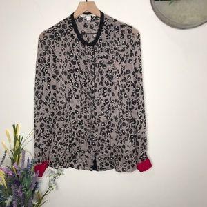Diane Von Furstenberg- Ursula Leopard Print Top